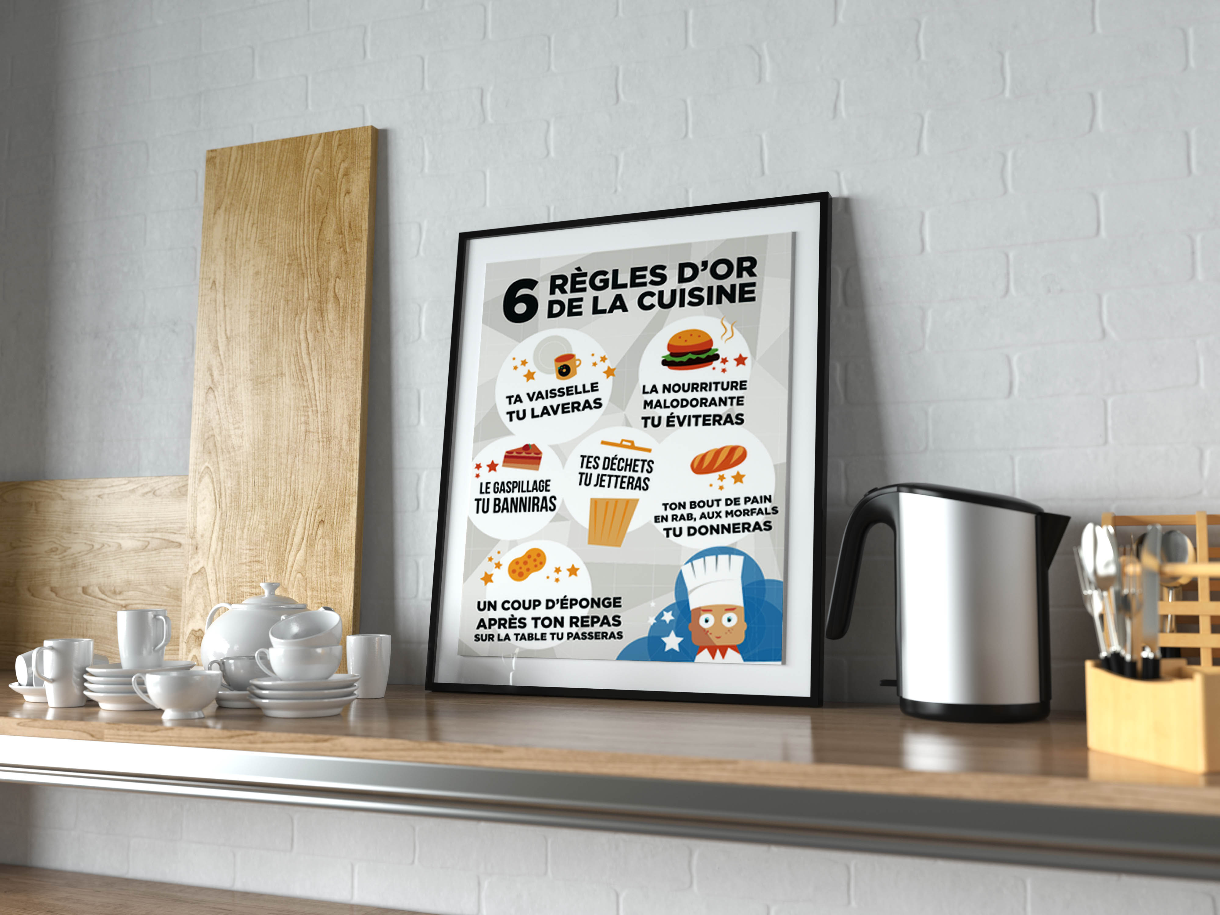 affiche règles d'or cuisine