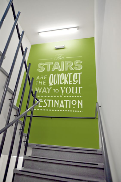 the stairs are the quickest way to your destination